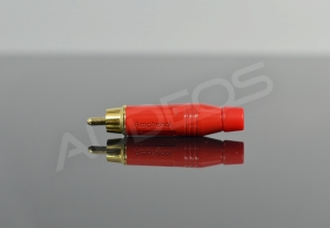 Wtyk RCA cinch Amphenol ACPR-RED