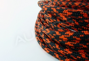 Nylon Soft 4mm BLACK-ORANGE