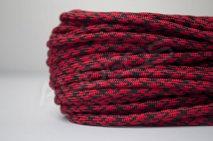 Nylon Soft 4mm BLACK-RED X - oplot nylonowy