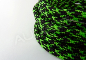 Nylon Soft 4mm BLACK-NEONGREEN